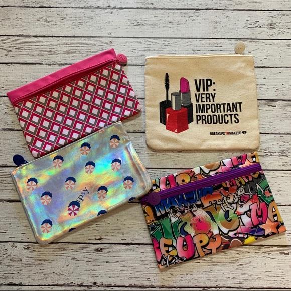 ipsy Handbags - Set of 4 makeup cosmetic bags 💄 Ipsy